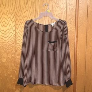 Tops - Stripped Blouse | size L
